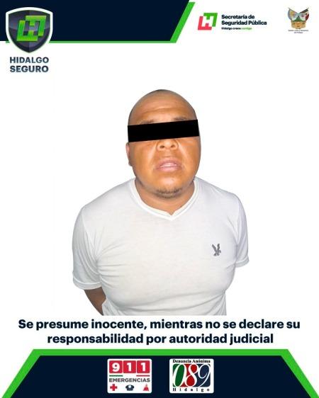 Detiene la Policía Estatal a hombre armado en Ixmiquilpan