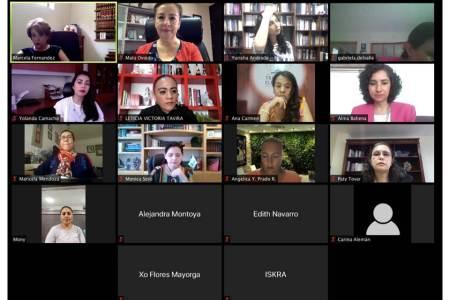 """Expusieron magistradas del TEEH acciones locales en el encuentro virtual """"Mujeres, Derechos y COVID-19"""""""