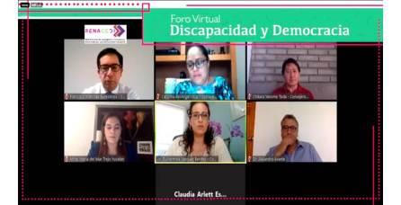 """IEEH y RENACEDI organizan Foro Virtual """"Discapacidad y Democracia""""2"""