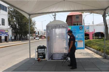 Instala Ayuntamiento de Tizayuca Túnel sanitizante