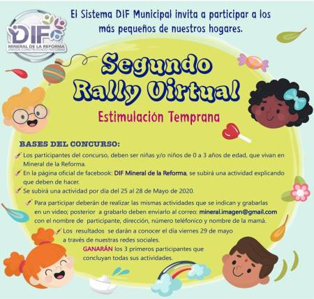 Lanza DIF de Mineral de la Reforma Segundo Rally Virtual de Estimulación Temprana
