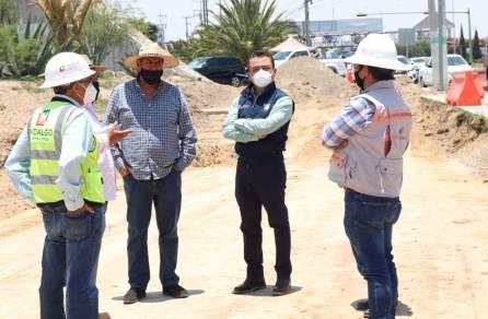 Meneses Arrieta supervisa construcción del distribuidor múltiple Galerías1