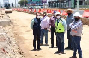 Meneses Arrieta supervisa construcción del distribuidor múltiple Galerías4
