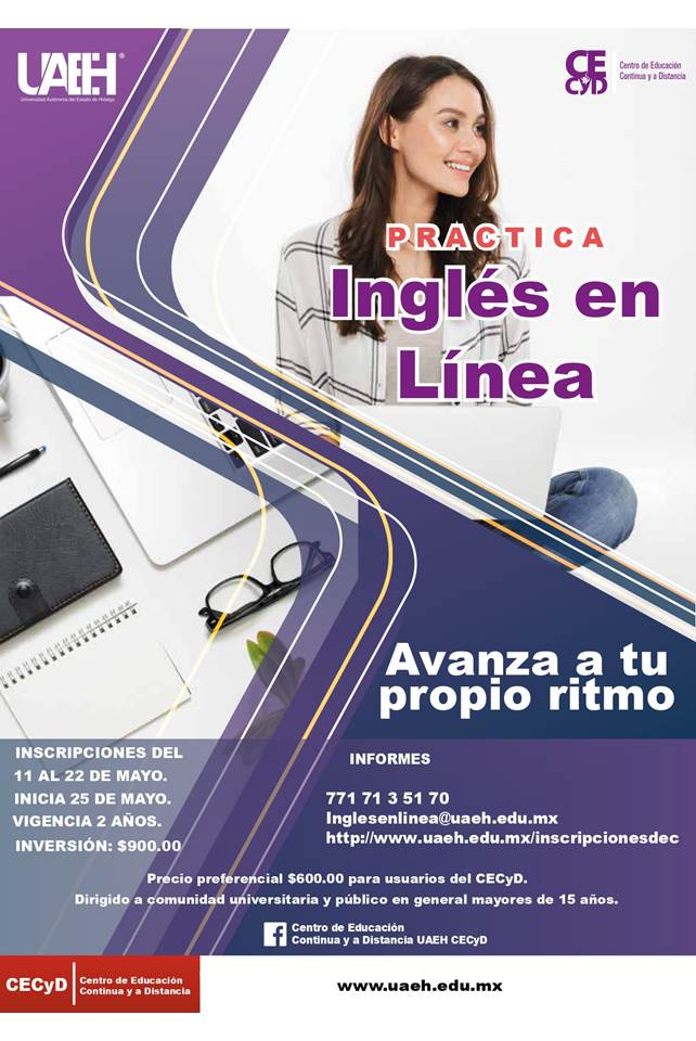 Ofrece UAEH curso Practica Inglés en Línea2
