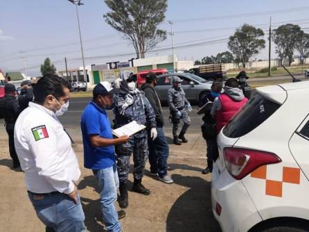 Participa CDHEH en puntos de control vehicular2