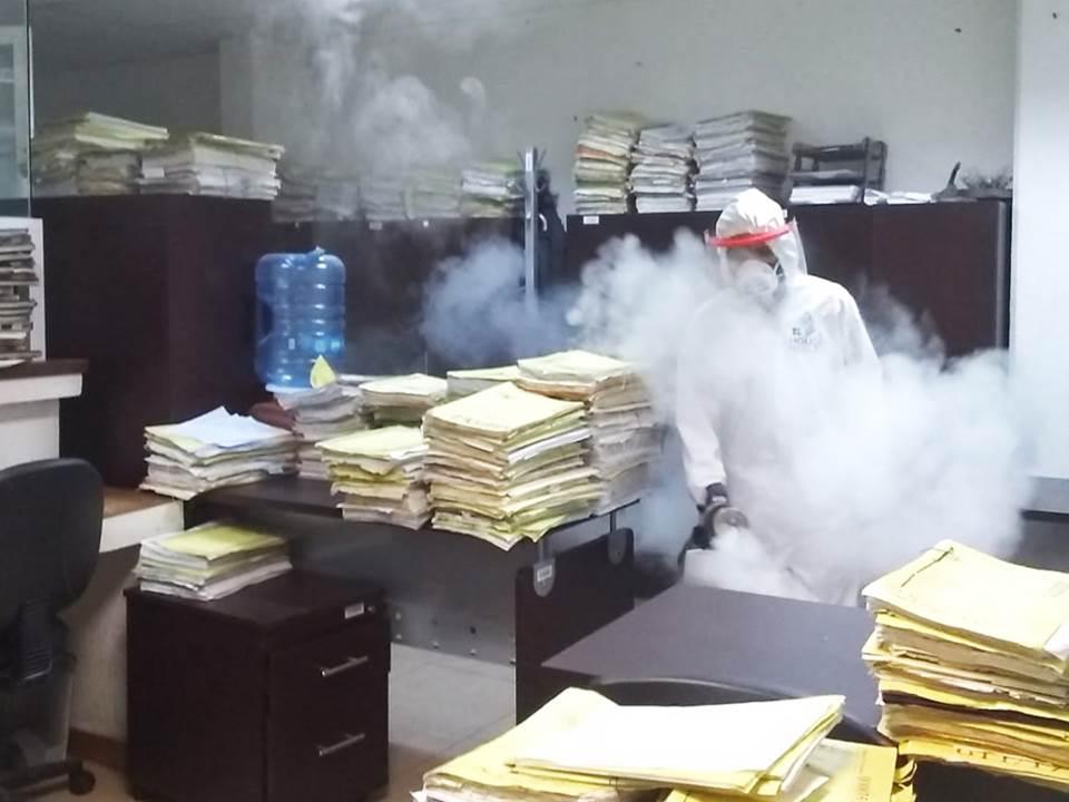 Poder Judicial de Hidalgo sanitiza todas sus instalaciones