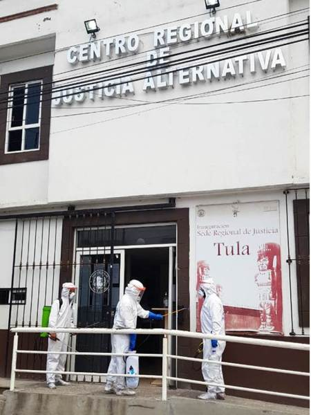 Poder Judicial de Hidalgo sanitiza todas sus instalaciones2