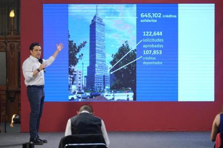 Se han aprobado 122 mil de 664 solicitudes de empresarios solidarios y más de 107 mil ya recibieron su crédito a la palabra