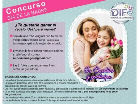 Sistema DIF de Mineral de la Reforma, lanza convocatoria para celebrar a mamá