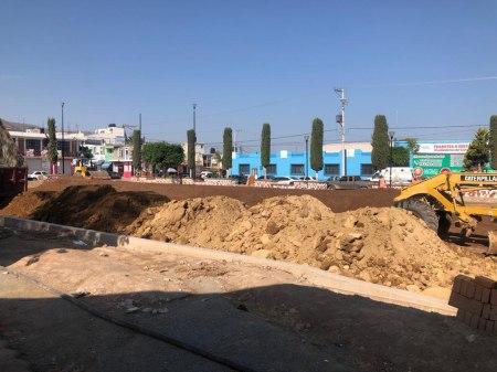 SOPOT realiza obra de rehabilitación de Plaza Juárez en San Agustín Tlaxiaca