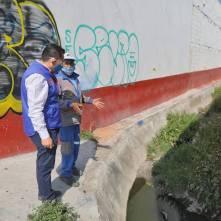 Supervisa alcalde Raúl Camacho limpieza de drenes en Mineral de la Reforma2