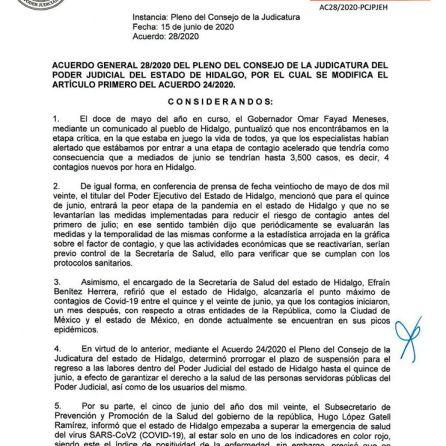Acuerdo 28, Poder Judicial de Hidalgo_4