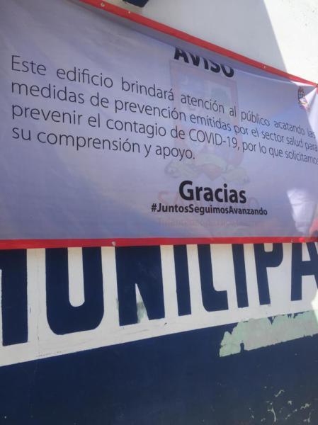 Continuarán cerrados espacios de convivencia en Santiago Tulantepec