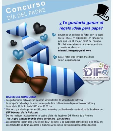 DIF de Mineral de la Reforma, invita a celebrar a papá con concurso en redes sociales y sana distancia