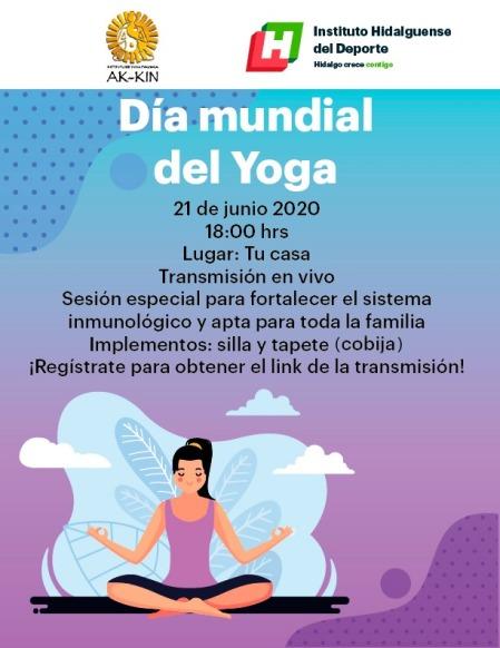 El INHIDE invita a celebrar el Día Mundial del Yoga con una clase virtual desde casa