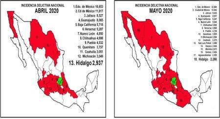 Hidalgo registra la mayor reducción de incidencia delictiva en el país2