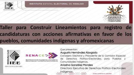 IEEH participa en actividades organizadas por Renacedi y su homólogo de Puebla, sobre pueblos y comunidades indígenas2
