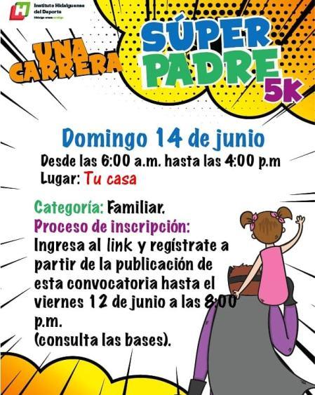 "INHIDE invita a participar en ""Una Carrera Súper Padre 5K"""