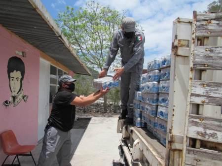 La Conagua entrega agua potable a la comunidad de Metznoxtla, municipio de Metztitlán