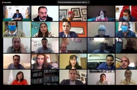 Presentan en sesión virtual diez iniciativas e igual número de asuntos generales