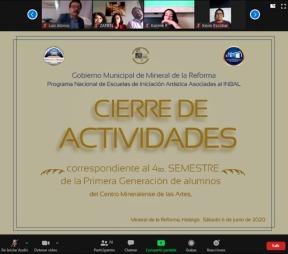 Realiza CEMART de manera virtual, cierre de actividades de la Escuela de Iniciación Artística Asociada al INBAL