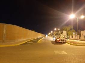 Rehabilita Servicios Municipales de Mineral de la Reforma alumbrado en Paseos de Chavarría