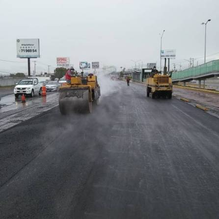 SOPOT realiza trabajos de reencarpetamiento en carretera federal México -Pachuca1