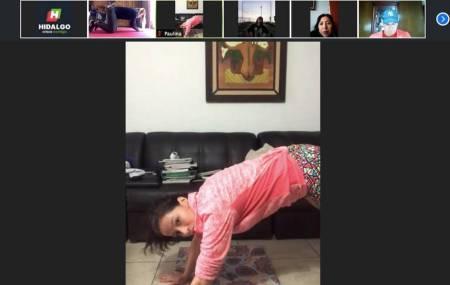 Alejandra Romero Bonilla entrena virtualmente a deportistas hidalguenses1