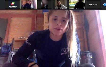 Alejandra Romero Bonilla entrena virtualmente a deportistas hidalguenses2