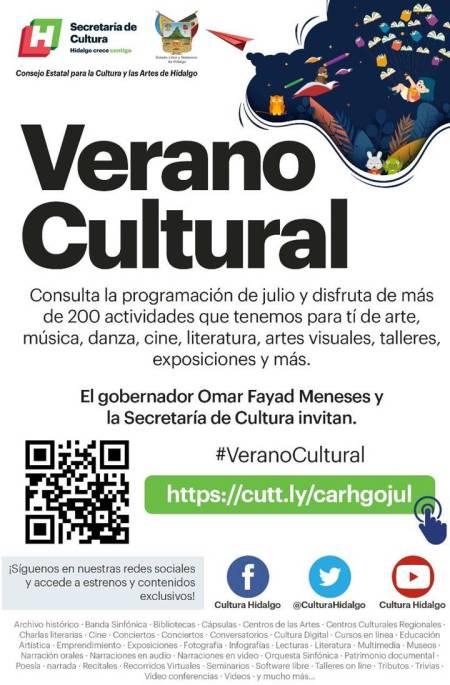 Arranca Gobierno de Hidalgo con el Verano Cultural