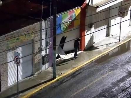 C5i Hidalgo y Policía Estatal asegurana individuo tras daños y allanamiento a comercio