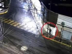 C5i Hidalgo y Policía Estatal asegurana individuo tras daños y allanamiento a comercio2