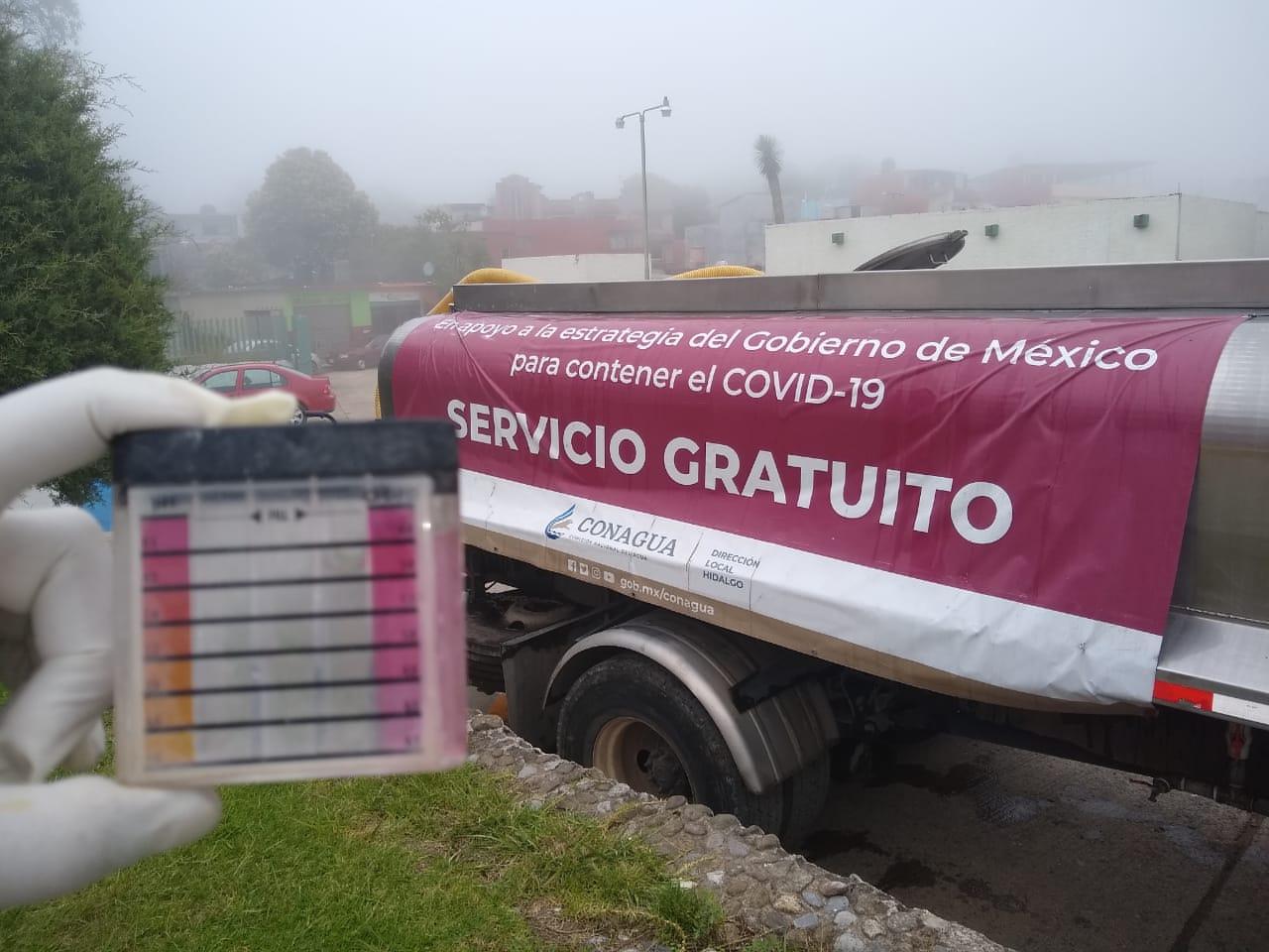 Conagua ha entregado más de 2 millones de litros de agua en pipas para poblaciones vulnerables en Hidalgo