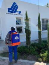 Continúan acciones de desinfección en colonias de Mineral de la Reforma1