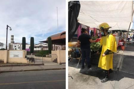 Continúan medidas de prevención de contagio de SARS-COV2 en Santiago Tulantepec
