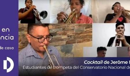Desde su hogar, alumnos del Conservatorio Nacional de Música interpretan obra de Jérôme Naulais