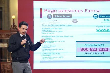 Garantiza IMSS pago de pensiones a quienes reciben sus recursos a través del Banco Ahorro Famsa