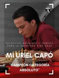 Hidalgo forma parte de la Selección Nacional de Ajedrez