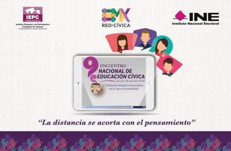 IEEH participa en Noveno Encuentro Nacional de Educación Cívica en modalidad virtual1
