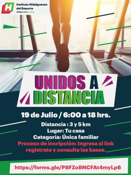 """INHIDE invita a la carrera atlética virtual """"Unidos a distancia"""""""