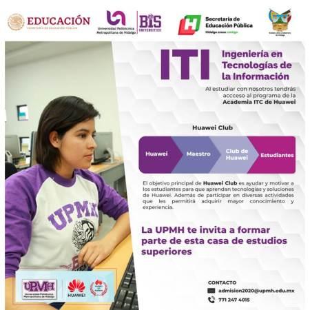 La ingeniería en Tecnologías de la Información de la UPMH forma parte del programa de la academia ICT de Huawei