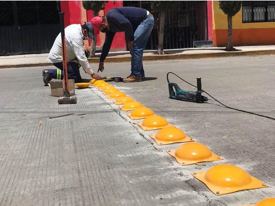 Refuerzan vialidad en Santiago Tulantepec