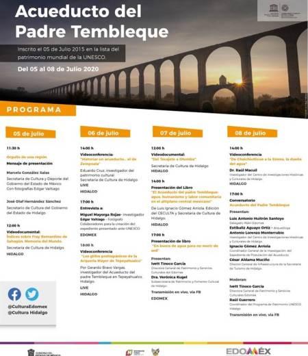 Rememoran Cultura Hidalgo y Edomex inscripción de Acueducto del Padre Tembleque en la Lista del Patrimonio Mundial