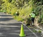 SOPOT realiza trabajos de limpieza en Carretera Estatal Ramal Pisaflores2