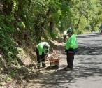 SOPOT realiza trabajos de limpieza en Carretera Estatal Ramal Pisaflores3