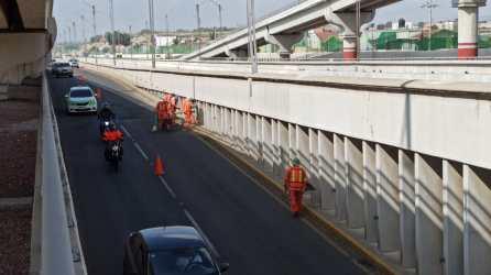 SOPOT realizó trabajos de limpieza general en el viaducto Río de las Avenidas, en Pachuca4