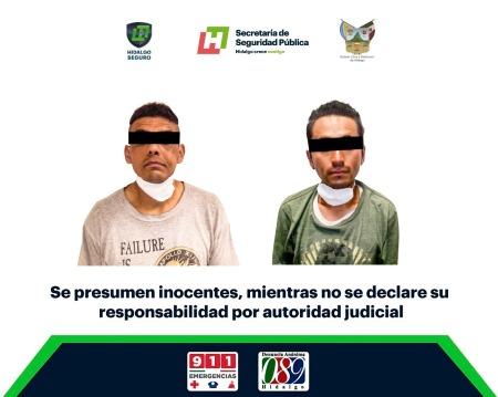 Detiene SSP Hidalgo a 3 individuos por presunto robo a domicilio en Mineral de la Reforma