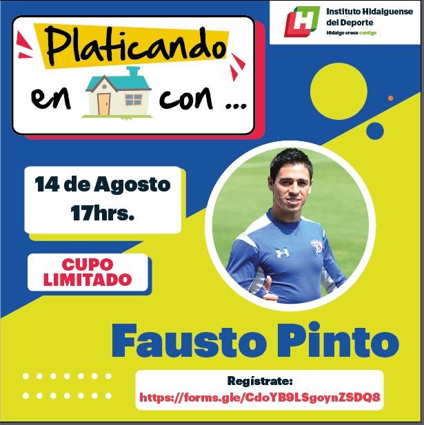 Fausto pinto conversara con aficionados a través del panel deportivo Platicando en casa con
