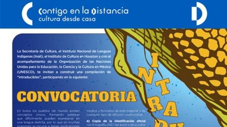"""La Secretaría de Cultura y el INALI presentan los resultados de la convocatoria """"Intraducibles"""", en lenguas indígenas"""