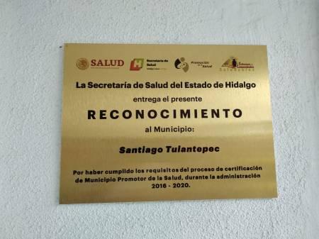 Reconocen a Santiago Tulantepec como municipio promotor de la salud